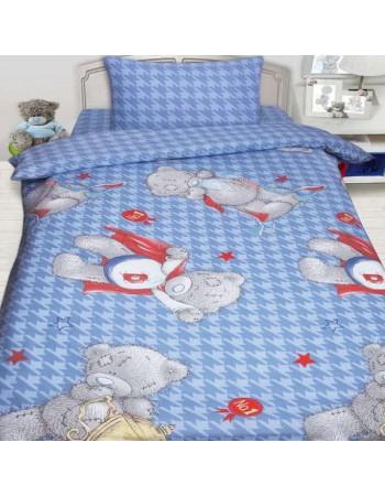 Комплект постельного белья MTY Ded на голубом