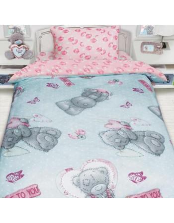 Комплект постельного белья MTY с подарком на бирюзовом