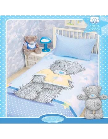 Комплект постельного белья Teddy on blue