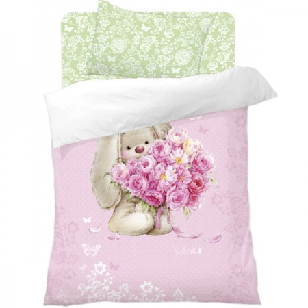 Комплект постельного белья Зайка с Букетом