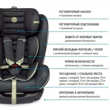 Автокресло Happy Baby Spector 0-36 кг