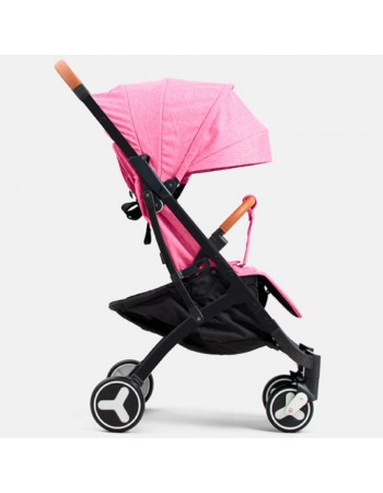 Коляска прогулочная YOYA Plus 3 2019 розовый (черная рама)