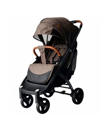 Коляска прогулочная YOYA Plus MAX 2021 коричневый (рама черная)