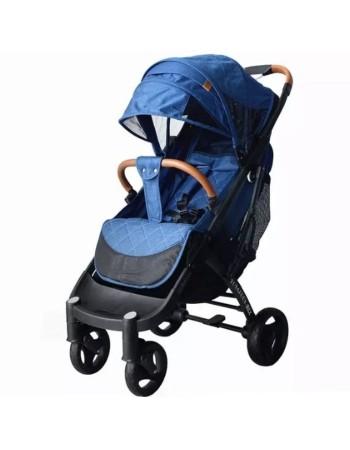 Коляска прогулочная YOYA Plus MAX 2020 синий (рама черная)
